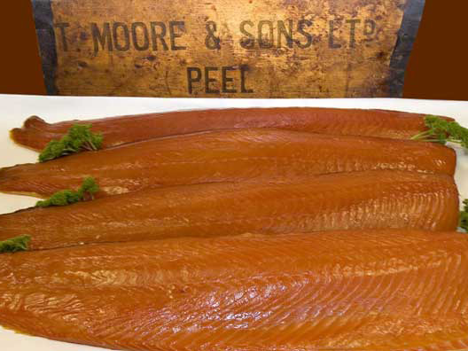 Oak smoked salmon fillets